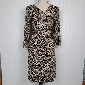 Banana Republic Leopard Print Wrap Dress Small